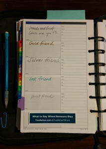 Will you write yourself into or fade away from your grieving friends' address books? (photo by Teresa TL Bruce/TealAshes.com)