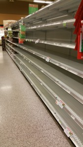 24-hours before Matthew's arrival, Central Florida grocery staples disappear (photo by Teresa TL Bruce, TealAshes.com)