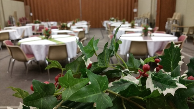 Three months after my husband died, I attended our congregation's annual Christmas pot luck social. I couldn't make myself go again until this year, the sixth after his death. (Teresa TL Bruce, TealAshes.com)