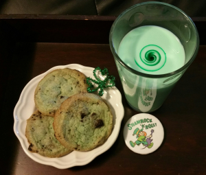 Green milk and other green-dyed foods were a staple of our St. Patrick's Days.