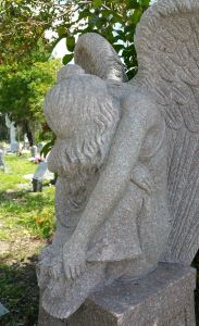 weeping photo, cemetery, Babyland, grief, TealAshes.com