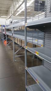 empty water aisle, pre-Irma, pre-hurricane