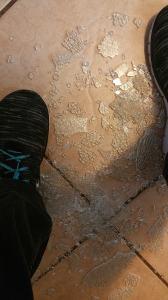 Broken glass, shatter, grief, teal shoelace, loss, Teresa TL Bruce, TealAshes.com